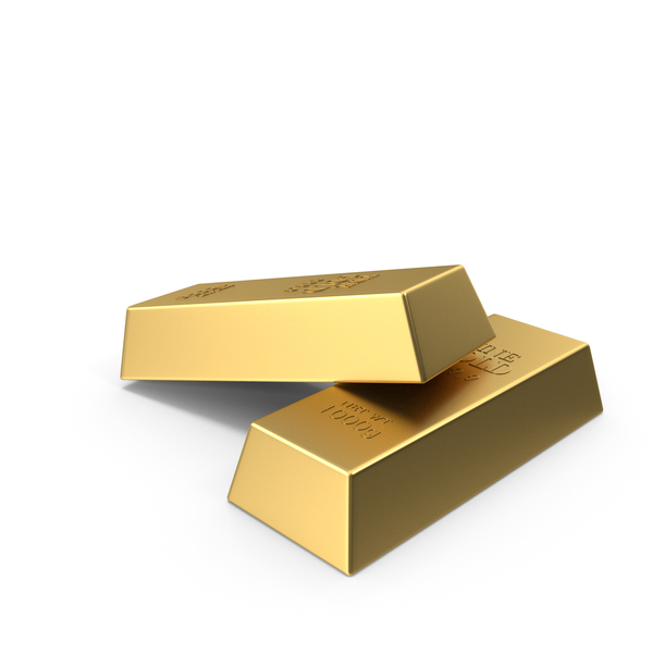 2 Gold Bars PNG & PSD Images