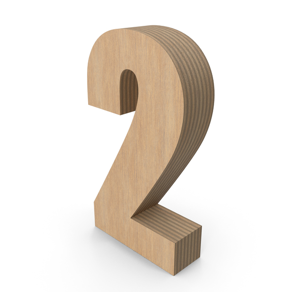Number: 2 Wood PNG & PSD Images