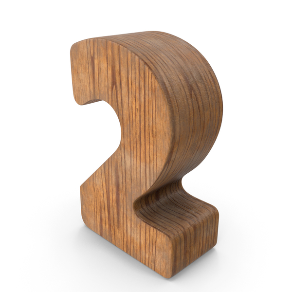2 Wooden Number PNG & PSD Images