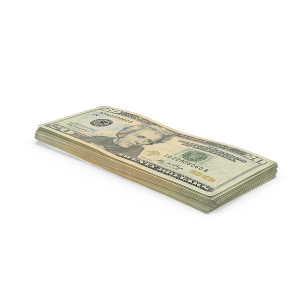 20 Dollar Bill Stack PNG & PSD Images