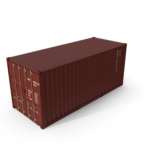20 ft ISO Container Brown PNG & PSD Images