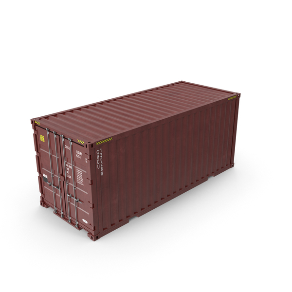 Cargo: 20 ft Long Shipping Container PNG & PSD Images