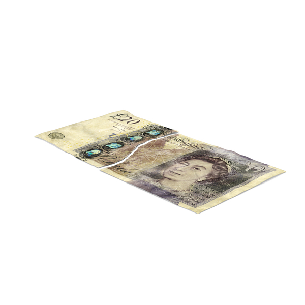 20 Pound Note Torn PNG & PSD Images