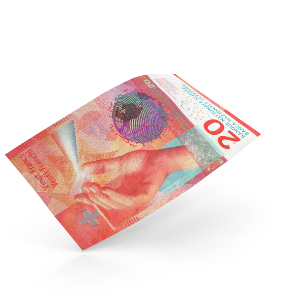 20 Swiss Franc Banknote Bill PNG & PSD Images