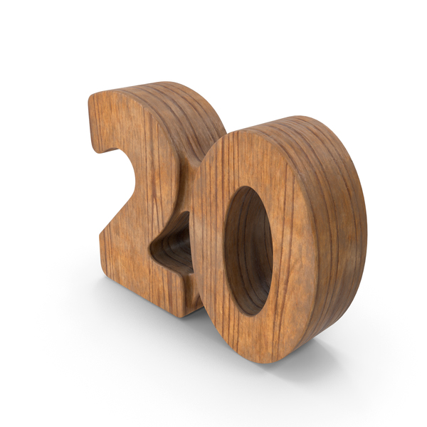 20 Wooden Number PNG & PSD Images