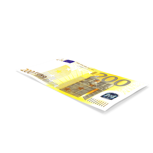200 Euro Banknote PNG & PSD Images