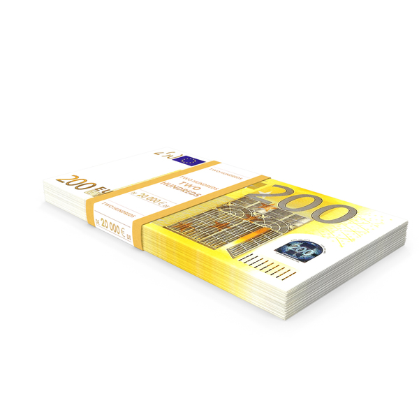 200 Euro Bundle Banknotes PNG & PSD Images
