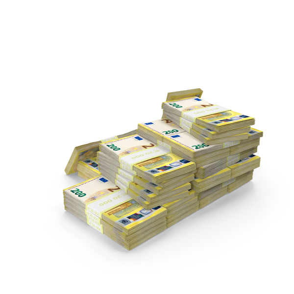 200 Euro Stacks PNG & PSD Images