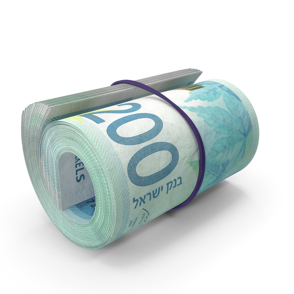 Banknote: 200 Israeli Shekel Roll PNG & PSD Images