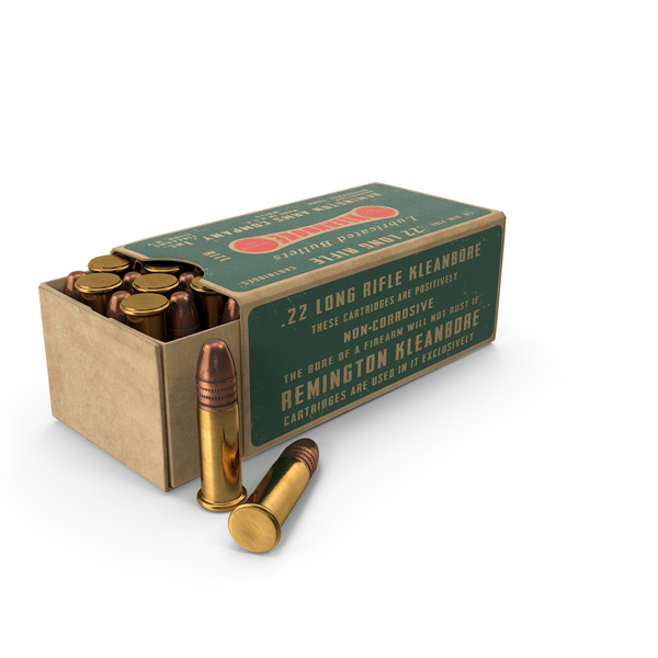 Ammunition: .22 Cartridge Box PNG & PSD Images