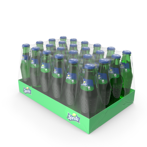 Soda: 24 Sprite Bottle Package PNG & PSD Images
