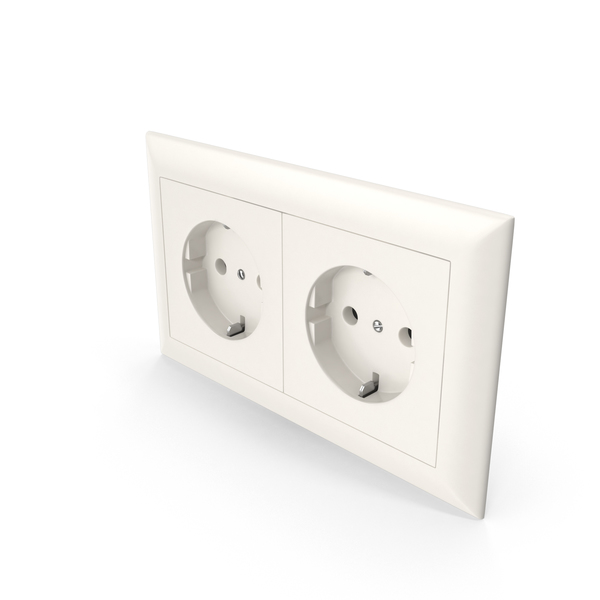 2x Wall Socket Outlet PNG & PSD Images