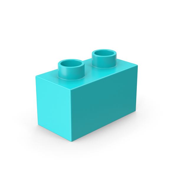 2x1 Blue Brick Toy PNG & PSD Images