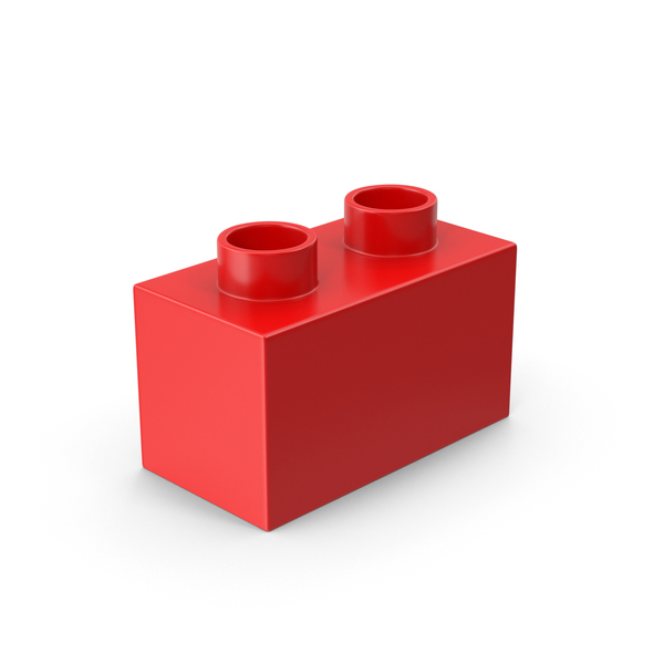 2x1 Red Brick Toy PNG & PSD Images