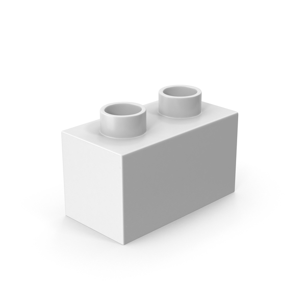 2x1 White Brick Toy PNG & PSD Images