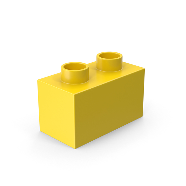 2x1 Yellow Brick Toy PNG & PSD Images