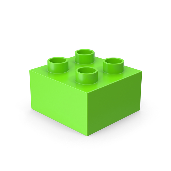 2x2 Green Brick Toy PNG & PSD Images