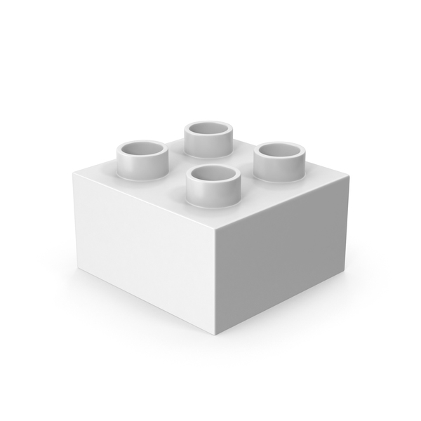 2x2 White Brick Toy PNG & PSD Images