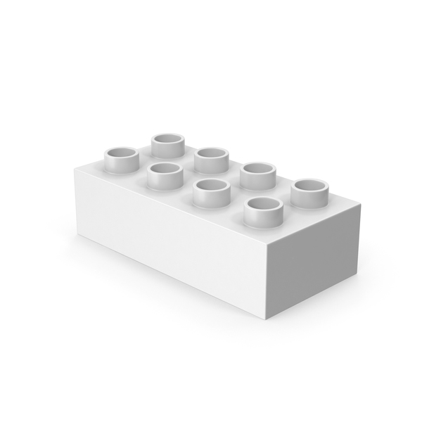 Lego: 2x4 White Brick Toy PNG & PSD Images