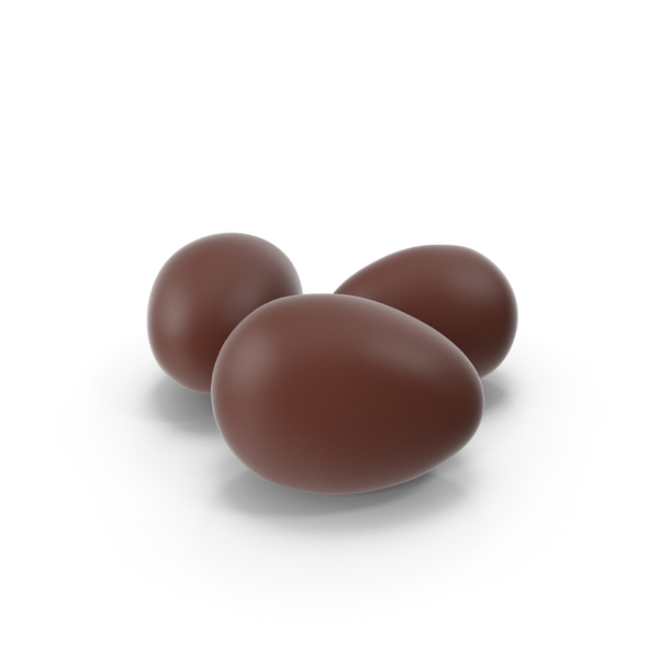3 Chocolate Eggs PNG & PSD Images