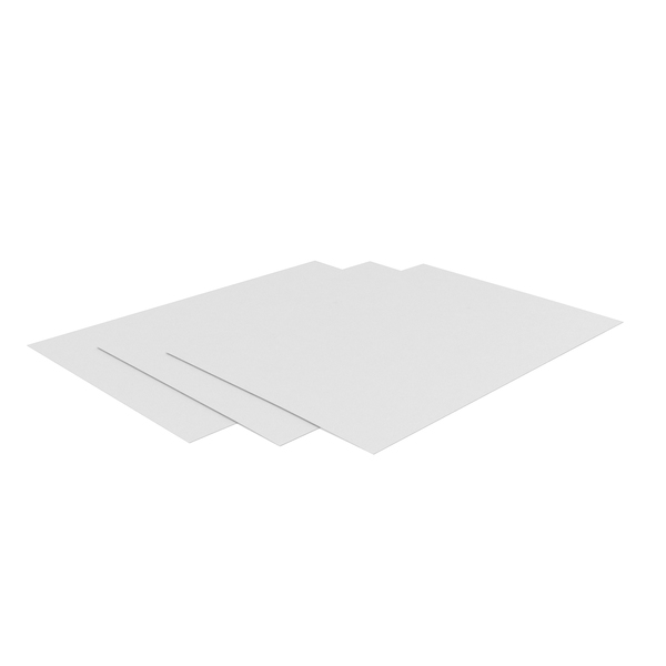 Paper: 3 White Printed Sheets PNG & PSD Images