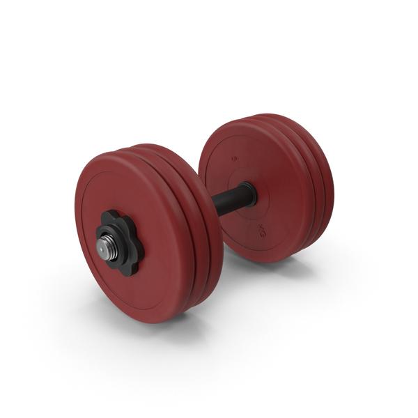 30kg Red Dumbbell PNG & PSD Images