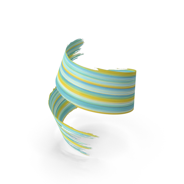 3D Paintbrush Stroke PNG & PSD Images