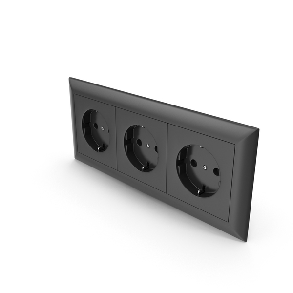 3x Wall Socket Outlet PNG & PSD Images