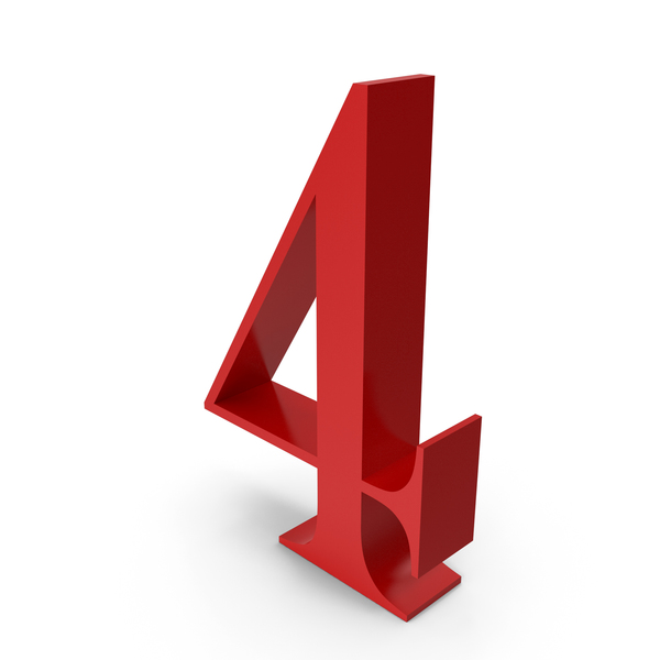 Number: 4 PNG & PSD Images