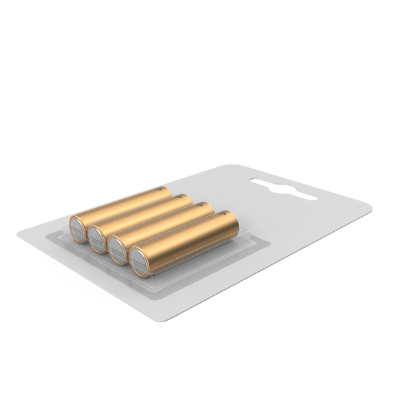 4 Pack Battery Gold PNG & PSD Images