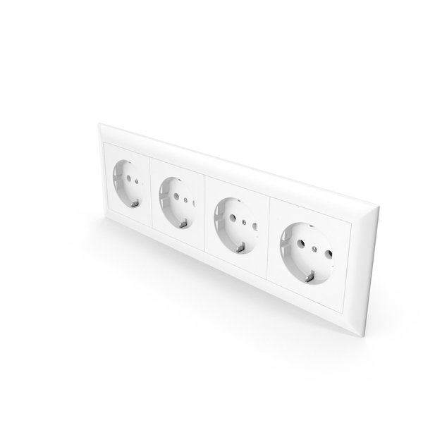 Electrical: 4x Wall Socket Outlet PNG & PSD Images