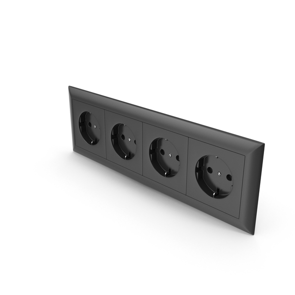 4x Wall Socket Outlet PNG & PSD Images