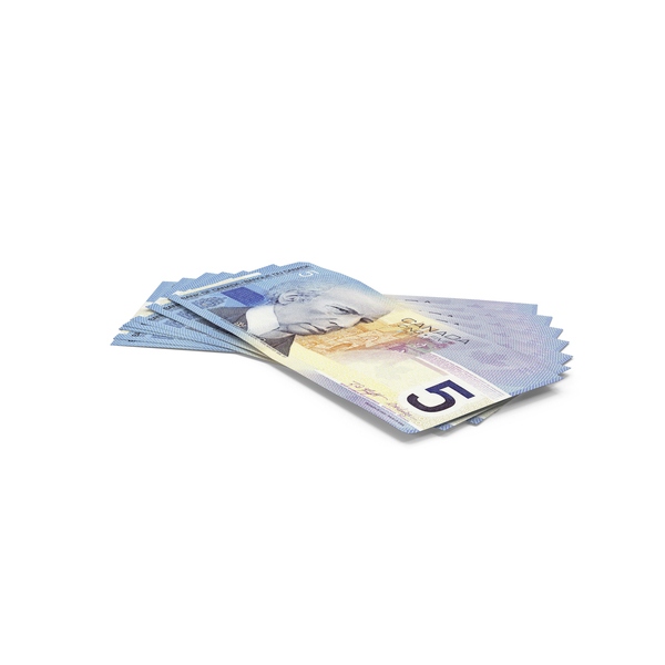 Five Banknote: 5 Canadian Dollar Note PNG & PSD Images