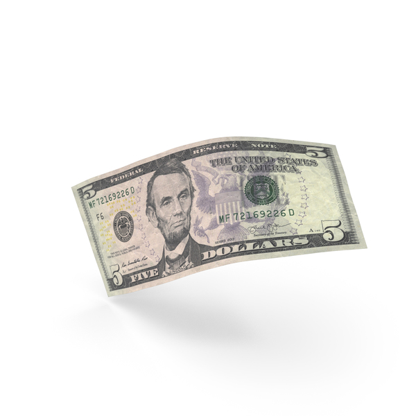 5 Dollar Banknote Bill PNG & PSD Images