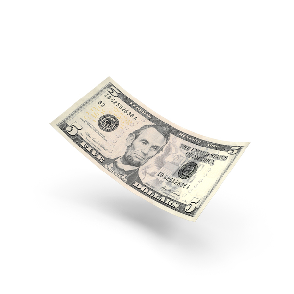 5 Dollar Bill PNG & PSD Images