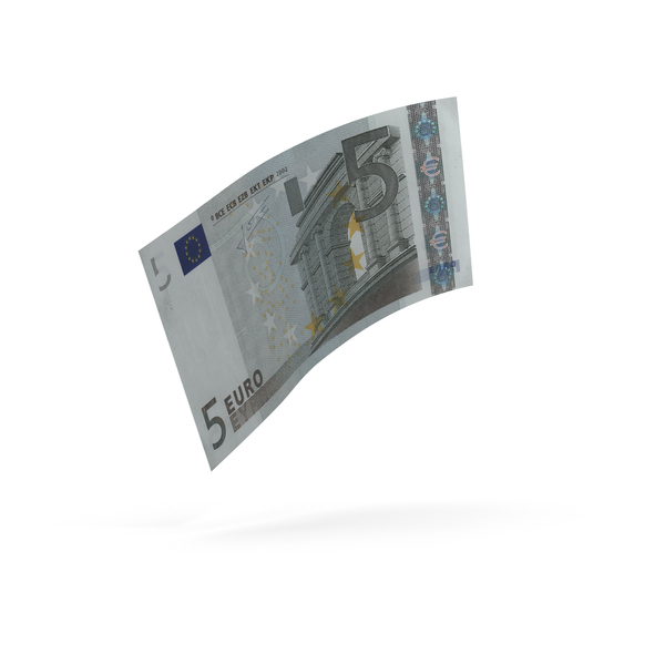 5 Euro Bill PNG & PSD Images