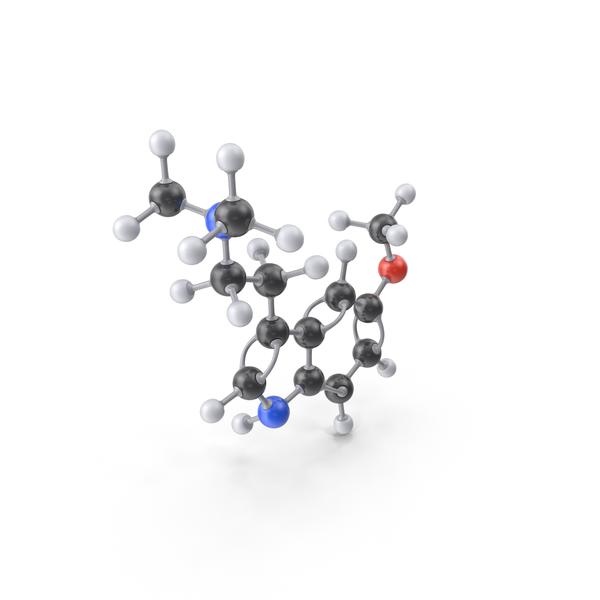 5-MeO-DMT Molecule PNG & PSD Images