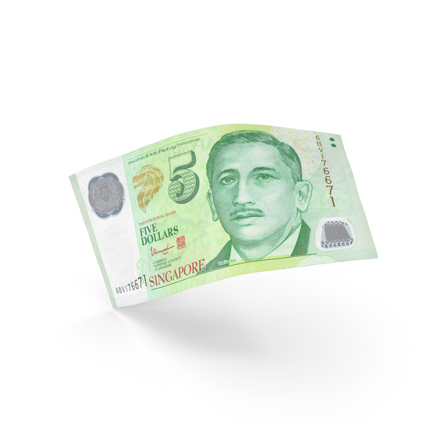 5 Singapore Dollar Banknote Bill PNG & PSD Images