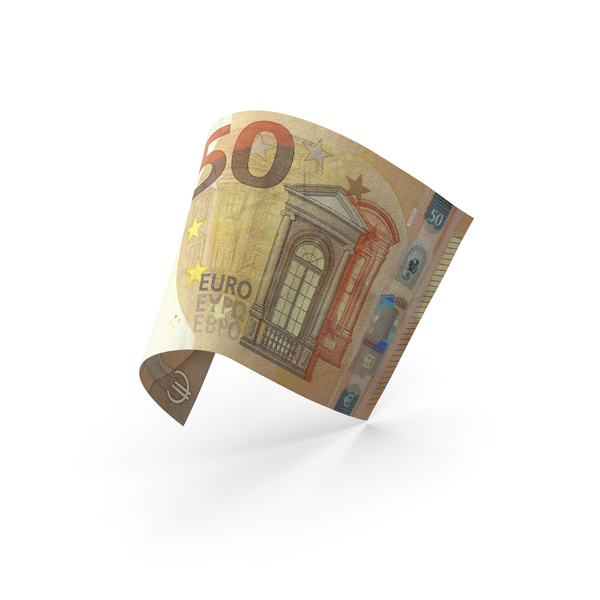 50 Euro Banknote Bill PNG & PSD Images