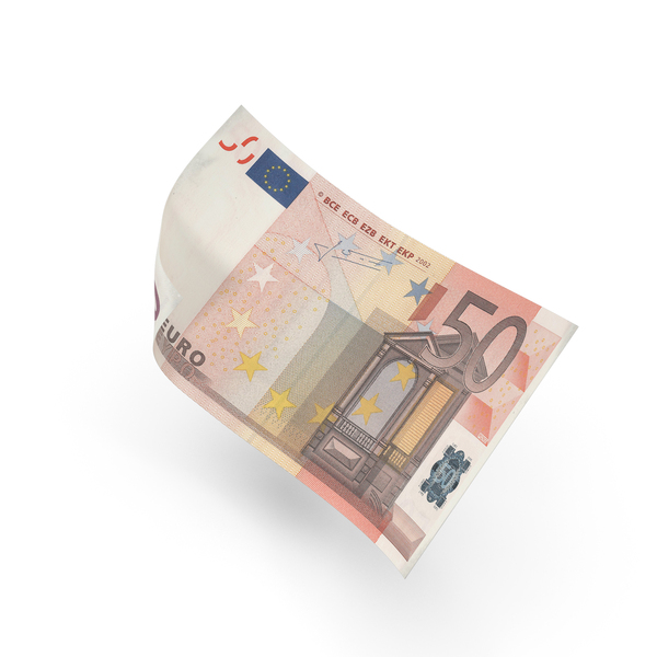 50 Euro Bill PNG & PSD Images