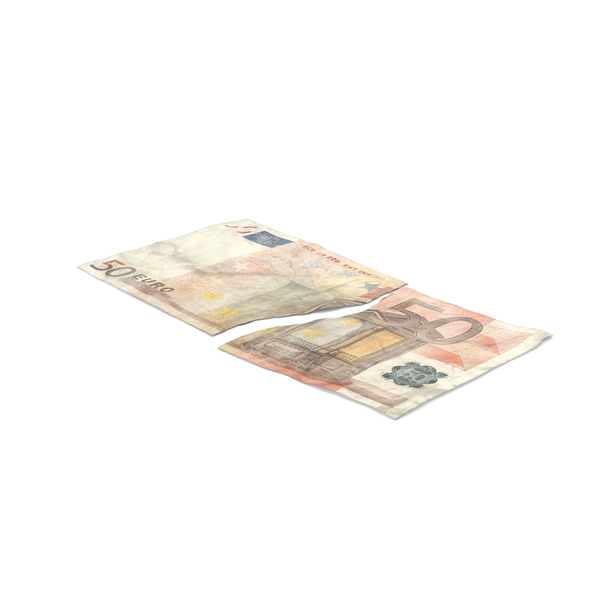 50 Euro Bill Torn PNG & PSD Images