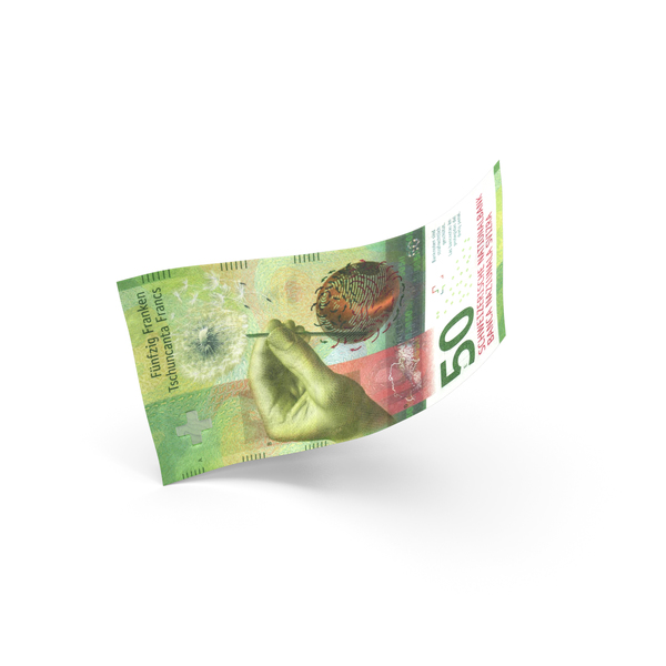 50 Swiss Franc Banknote Bill PNG & PSD Images