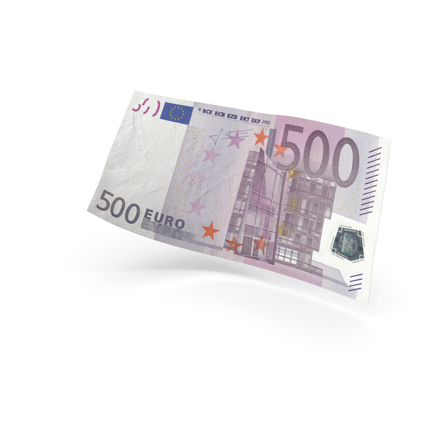 500 Euro Banknote Bill PNG & PSD Images