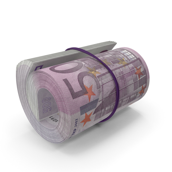 Banknote: 500 Euro Roll PNG & PSD Images