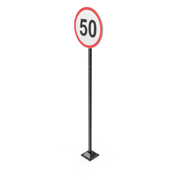 50km Road Sign PNG & PSD Images