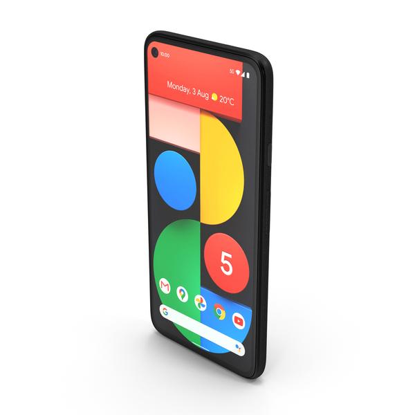 5G Mobile Phone Google Pixel 5 Just Black PNG & PSD Images