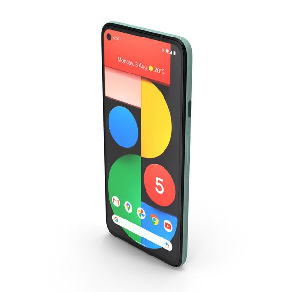 5G Mobile Phone Google Pixel 5 Sorta Sage PNG & PSD Images