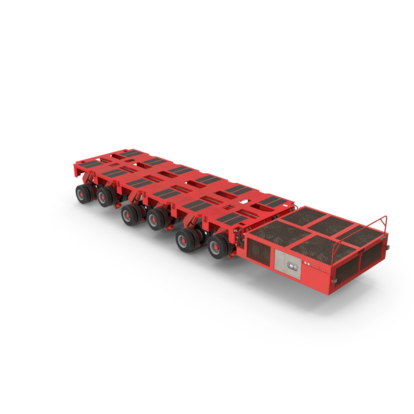 Flatbed Trailer: 6 Axle Lines Modular Transporter Goldhofer PNG & PSD Images