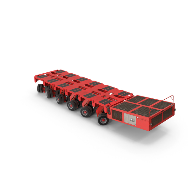6 Axle Lines Modular Transporter Goldhofer PNG & PSD Images