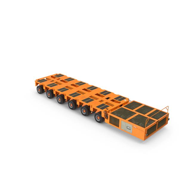 Trailer (Car Or: 6 Axle Lines Modular Transporter Goldhofer Orange PNG & PSD Images
